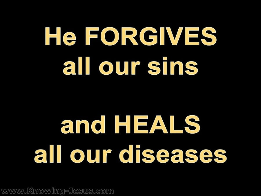 Psalm 103:3 He Forgives Our Sin (black)